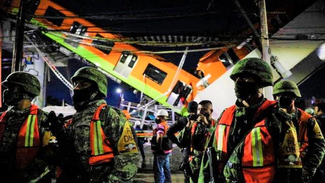 DECRETAN 3 DÍAS DE DUELO NACIONAL POR ACCIDENTE EN LA LÍNEA 12 DEL METRO