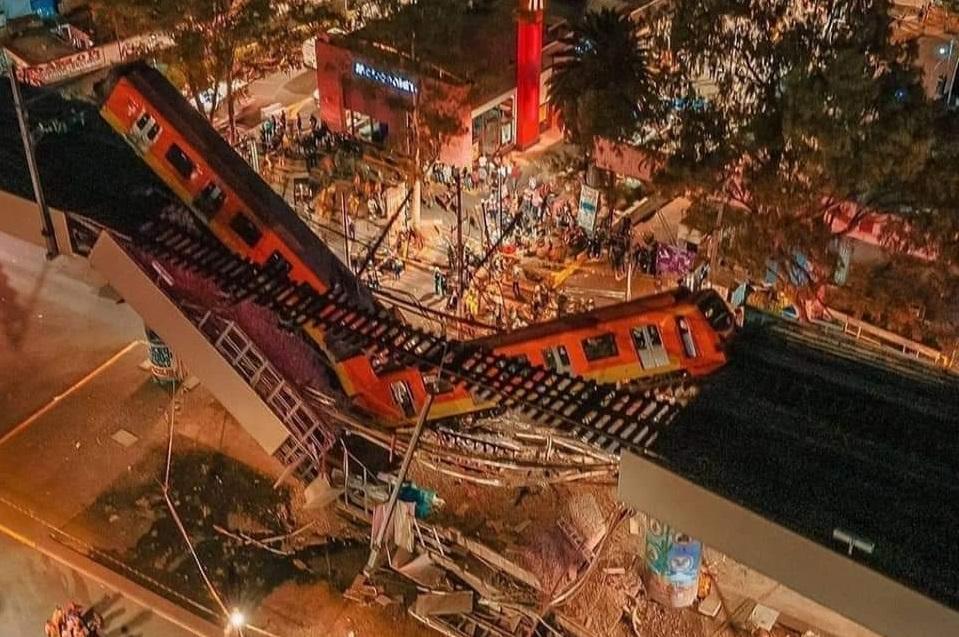 SUMAN 26 FALLECIDOS TRAS ACCIDENTE EN LA LÍNEA 12 DEL METRO CDMX