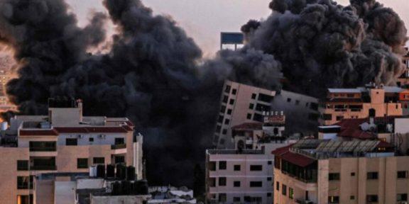FUERZA AÉREA DE ISRAEL BOMBARDEA GAZA Y DERRIBA LA TORRE HANADI
