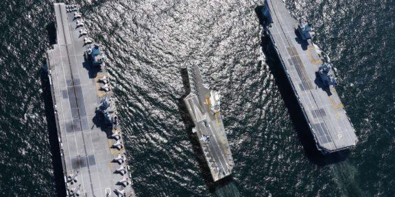 HMS QUEEN ELIZABETH SE ALISTA PARA HACER SU GIRA