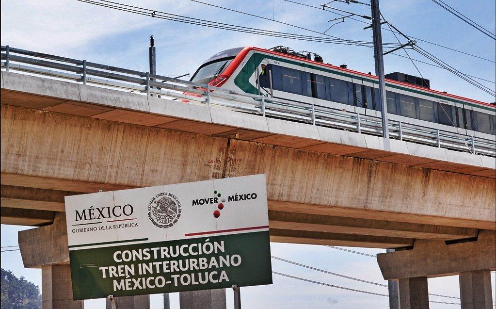 CERRARÁN CARRILES EN LA MÉXICO-TOLUCA POR OBRAS DEL TREN INTERURBANO
