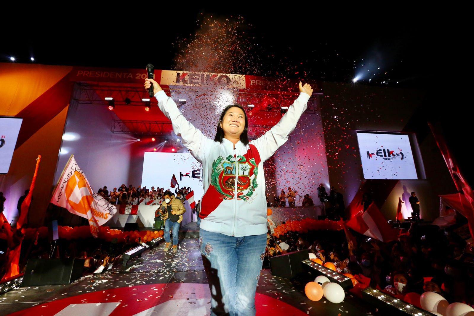KEIKO FUJIMORI AVENTAJA ELECCIÓN PRESIDENCIAL EN PERÚ