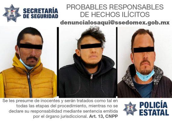 CON PROBABLE MARIHUANA Y ARMAS DE FUEGO FUERON DETENIDOS EN CHAPA DE MOTA