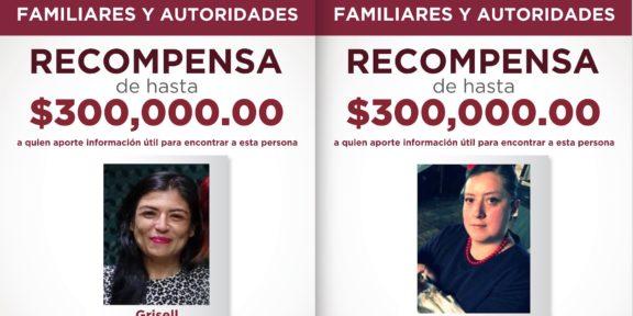 OFRECE FGJEM RECOMPENSA DE HASTA 300 MIL PESOS PARA LOCALIZAR A DOS PERSONAS DESAPARECIDAS