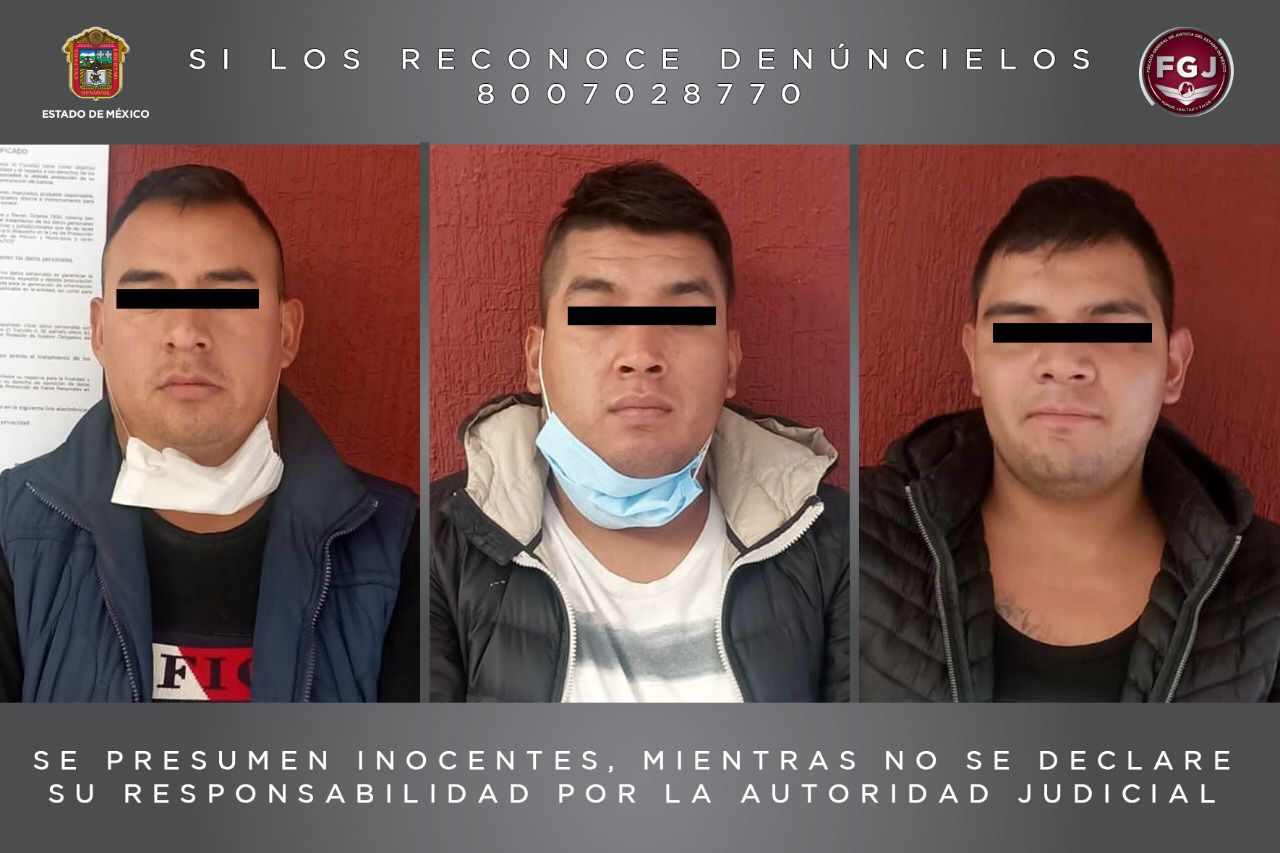 DETIENEN A TRES HOMBRES INVESTIGADOS POR ROBO DE AUTOPARTES EN TEOTIHUACÁN