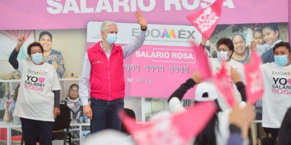 EDOMÉX REALIZA PRIMERA ENTREGA DE TARJETAS DEL SALARIO ROSA TRAS ELECCIONES