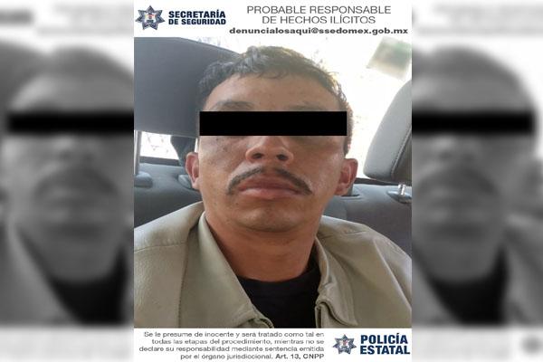 LO CAPTURARON EN DONATO GUERRA POR EL DELITO DE PORTACIÓN DE ARMA