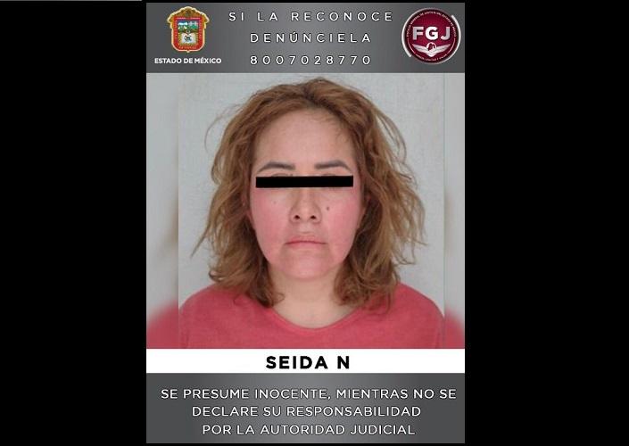 SEIDA FUE DETENIDA POR EL SECUESTRO DE UN COMERCIANTE EN CHICOLOAPAN