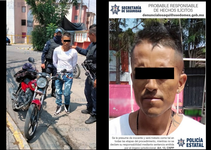 LO CAPTURARON LUEGO DE QUE PRESUNTAMENTE ASALTÓ UNA TIENDA EN TULTEPEC