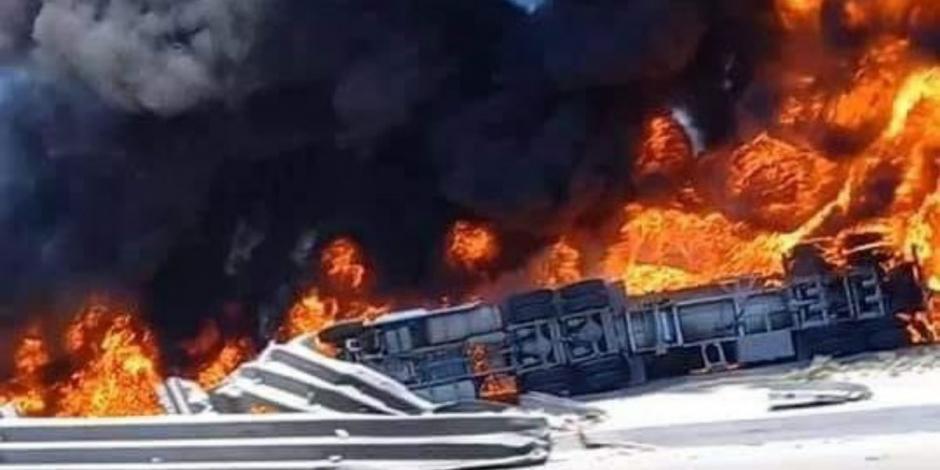 VIDEO: EXPLOTA PIPA CON COMBUSTIBLE EN TIJUANA