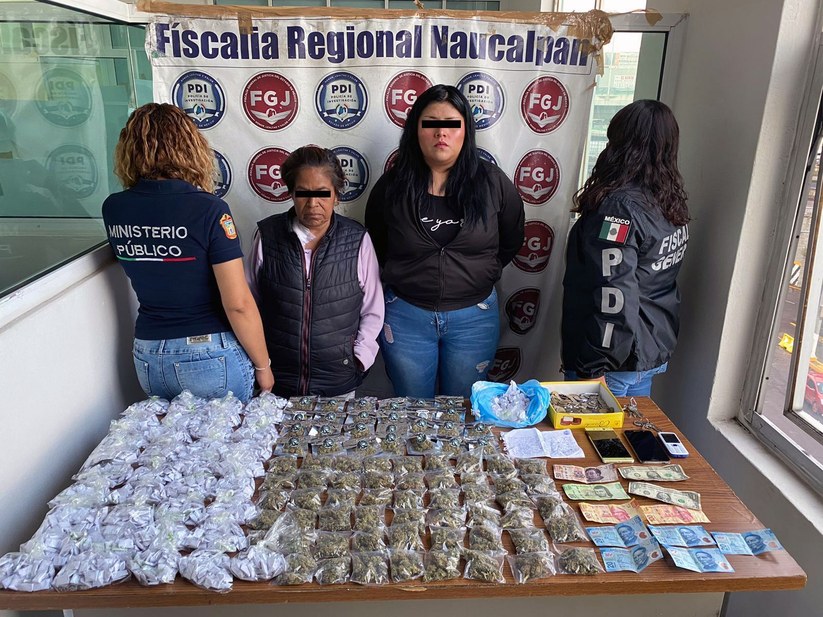 DESMANTELAN UN PUNTO DE VENTA DE DROGA EN NAUCALPAN