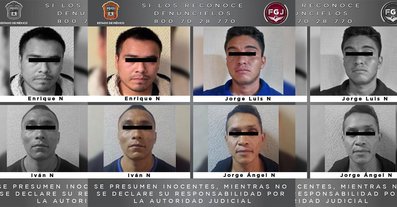 A PROCESO, CUATRO PROBABLES HOMICIDAS DE TEXCOCO, CHIMALHUACÁN Y CHICOLOAPAN