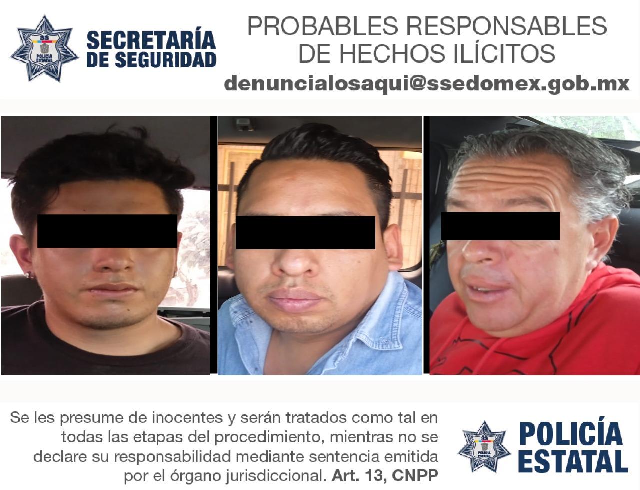RECUPERAN EN NAUCALPAN CUATRO VEHÍCULOS CON REPORTE DE ROBO