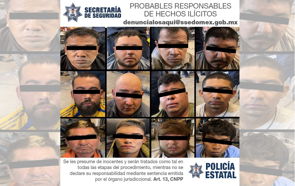 CAEN 12 PRESUNTOS INTEGRANTES DE UNA ORGANIZACIÓN DELICTIVA DEDICADA A DESVALIJAR AUTOS ROBADOS