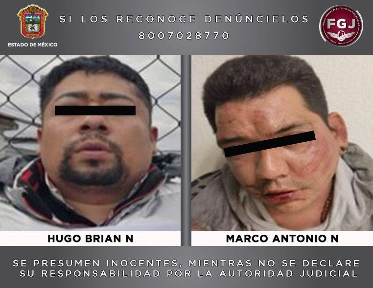 PROCESAN A DOS SUJETOS INVESTIGADOS POR HOMICIDIOS OCURRIDOS EN CHICOLOAPAN Y VALLE DE CHALCO