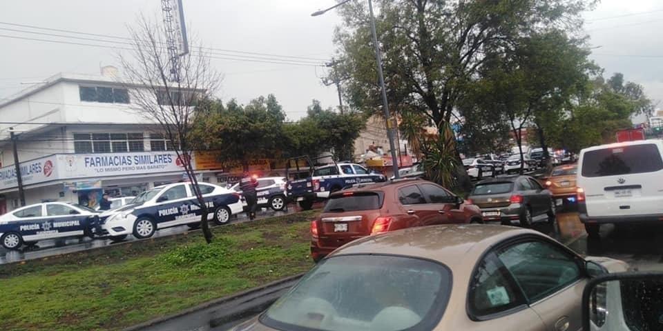 SE REGISTRA ENFRENTAMIENTO ENTRE POLICÍAS MUNICIPALES DE TLALNEPANTLA Y FGJEM