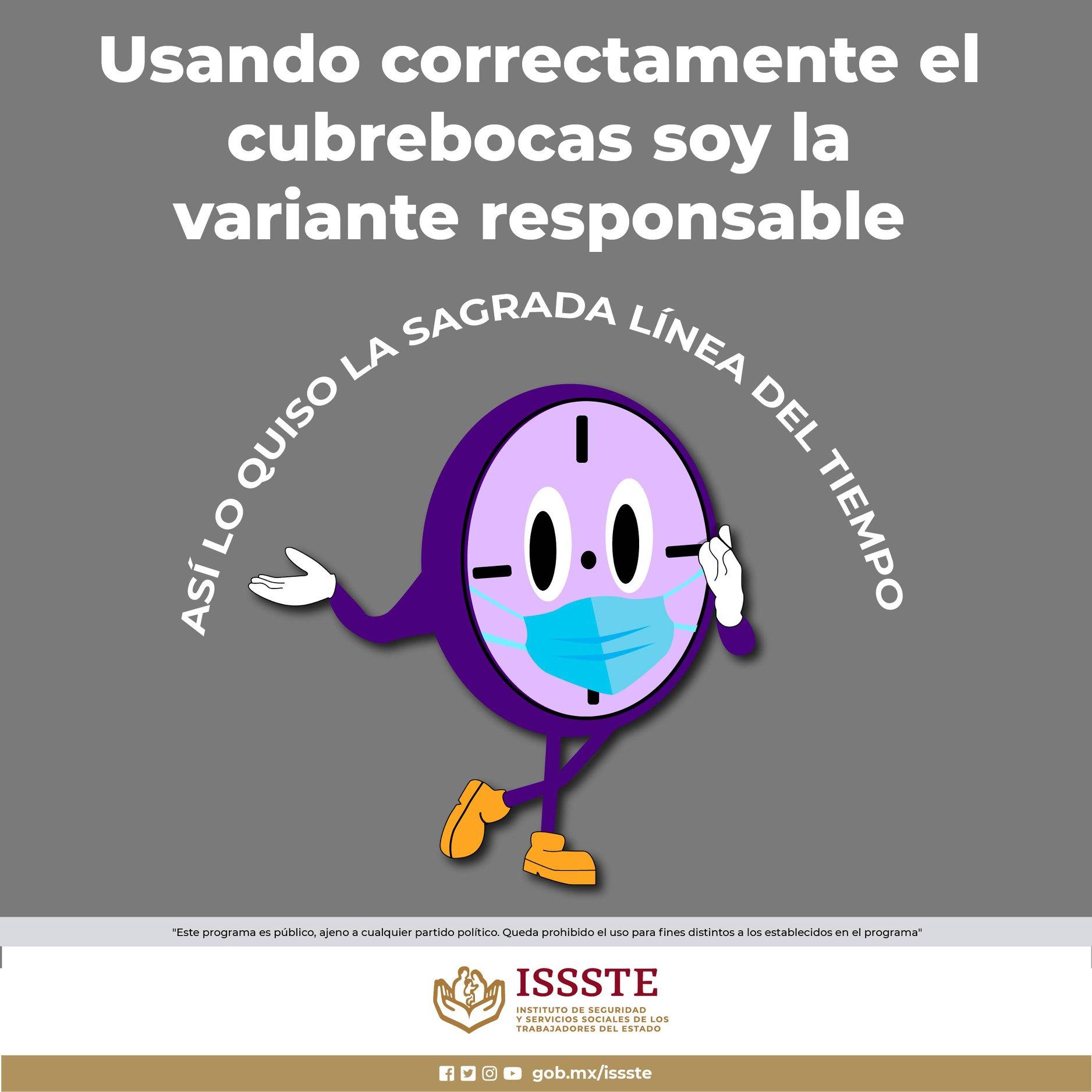 "ISSSTE SE INSPIRA EN ""MISS MINUTES"" PARA PROMOVER EL USO DEL CUBREBOCAS"