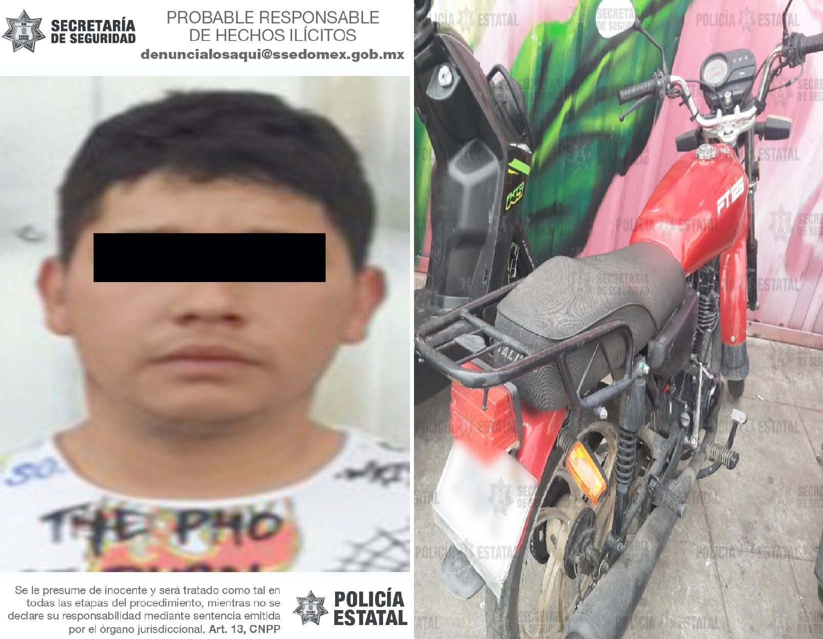 RECUPERAN UNA MOTOCICLETA CON REPORTE DE ROBO EN NAUCALPAN
