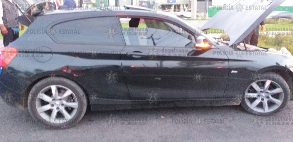 RECUPERAN EN TOLUCA UN BMW CON REPORTE DE ROBO