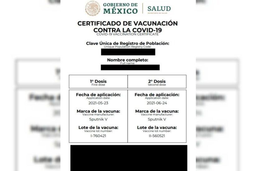 DETECTAN CERTIFICADOS DE VACUNACIÓN FALSOS, AUTORIDADES PIDEN ESTAR ALERTA