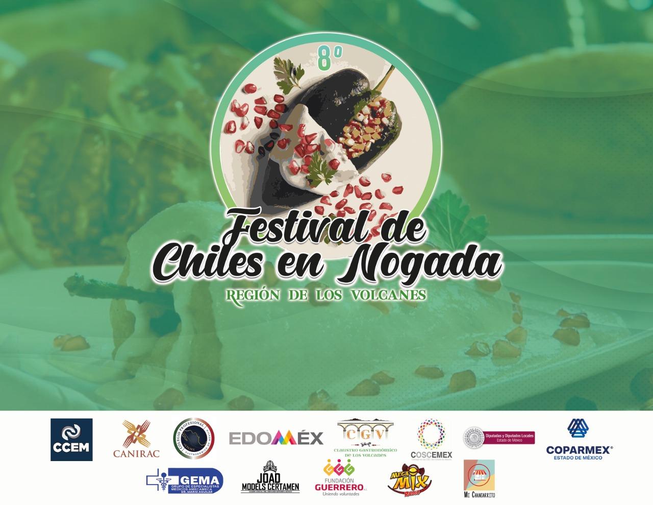 DISFRUTA DEL 8º FESTIVAL DE CHILES EN NOGADA, EN LA ZONA DE LOS VOLCANES