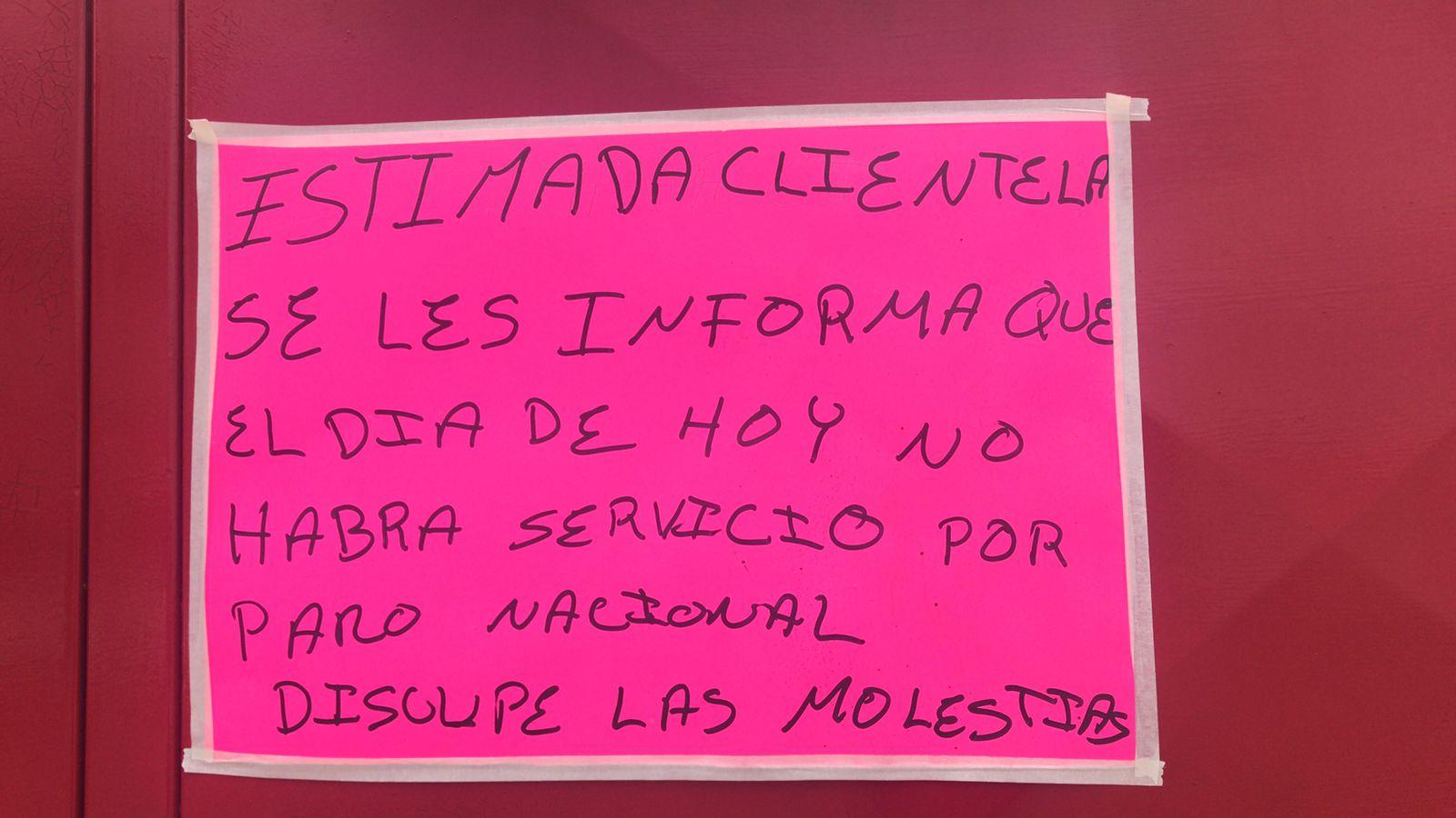 GASERAS DEL VALLE DE MÉXICO SE UNEN AL PARO NACIONAL
