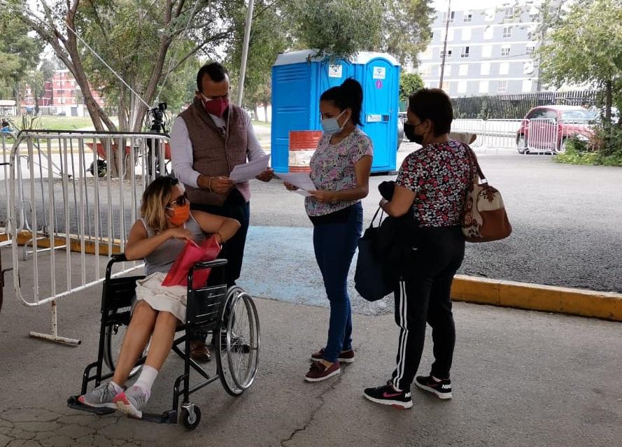 PERSONAS DISCAPACITADAS COMPLETAN SU ESQUEMA DE VACUNACIÓN