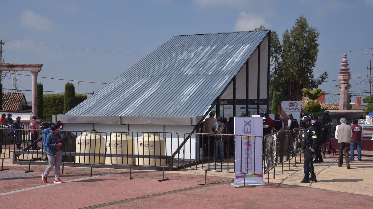 FORTALECE CAEM CULTURA DEL CUIDADO Y CAPTACIÓN DE AGUA EN TEMOAYA