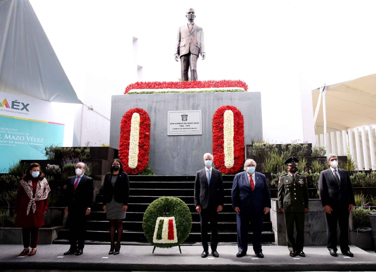 CONMEMORAN 117 ANIVERSARIO DEL NACIMIENTO DE DON ALFREDO DEL MAZO VÉLEZ, EX GOBERNADOR MEXIQUENSE