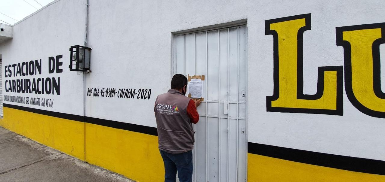 PROPAEM CLAUSURA GASERA EN EL MUNICIPIO DE LA PAZ
