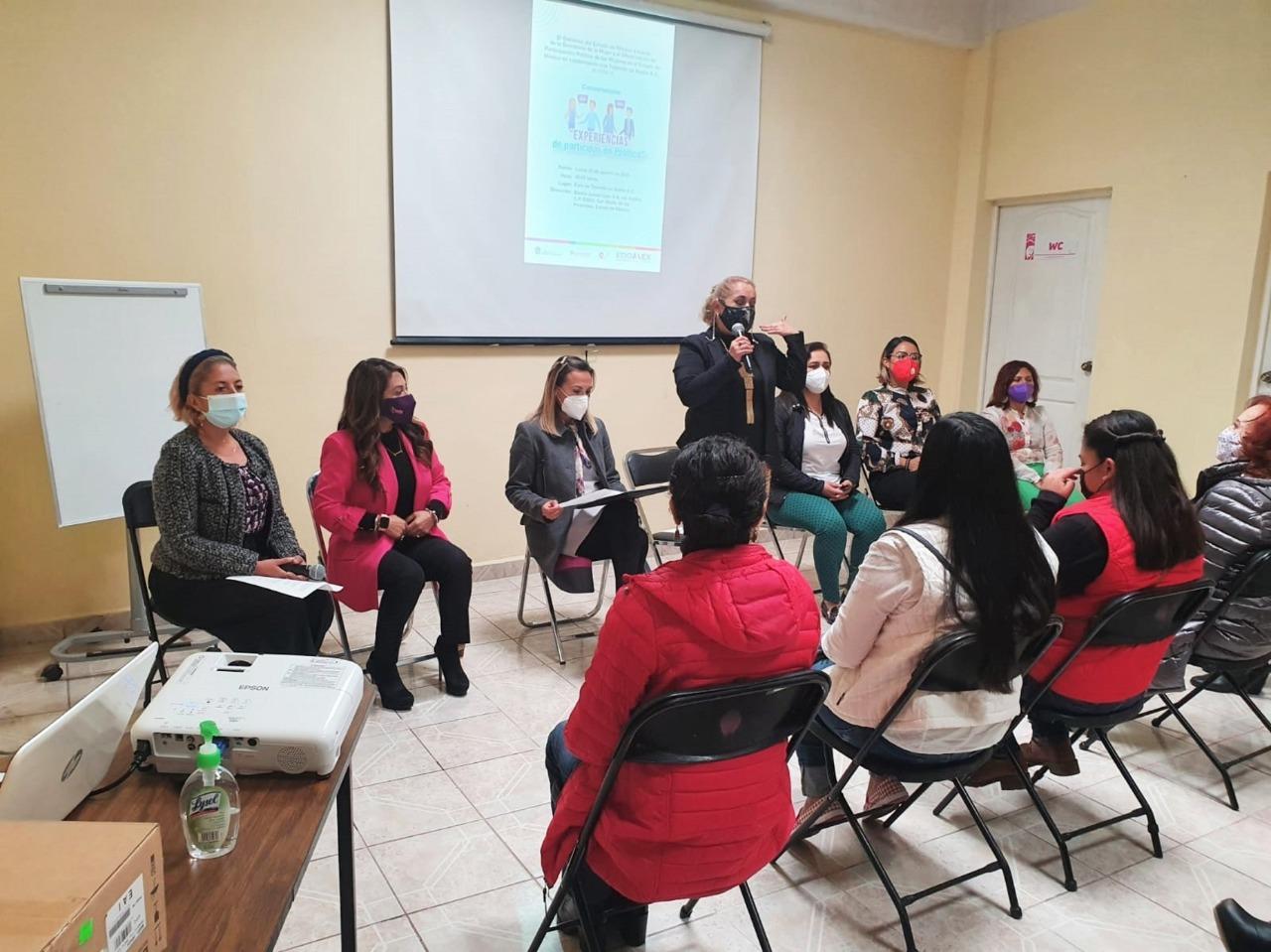 COMPARTEN MUJERES MEXIQUENSES SUS EXPERIENCIAS EN EL ÁMBITO POLÍTICO