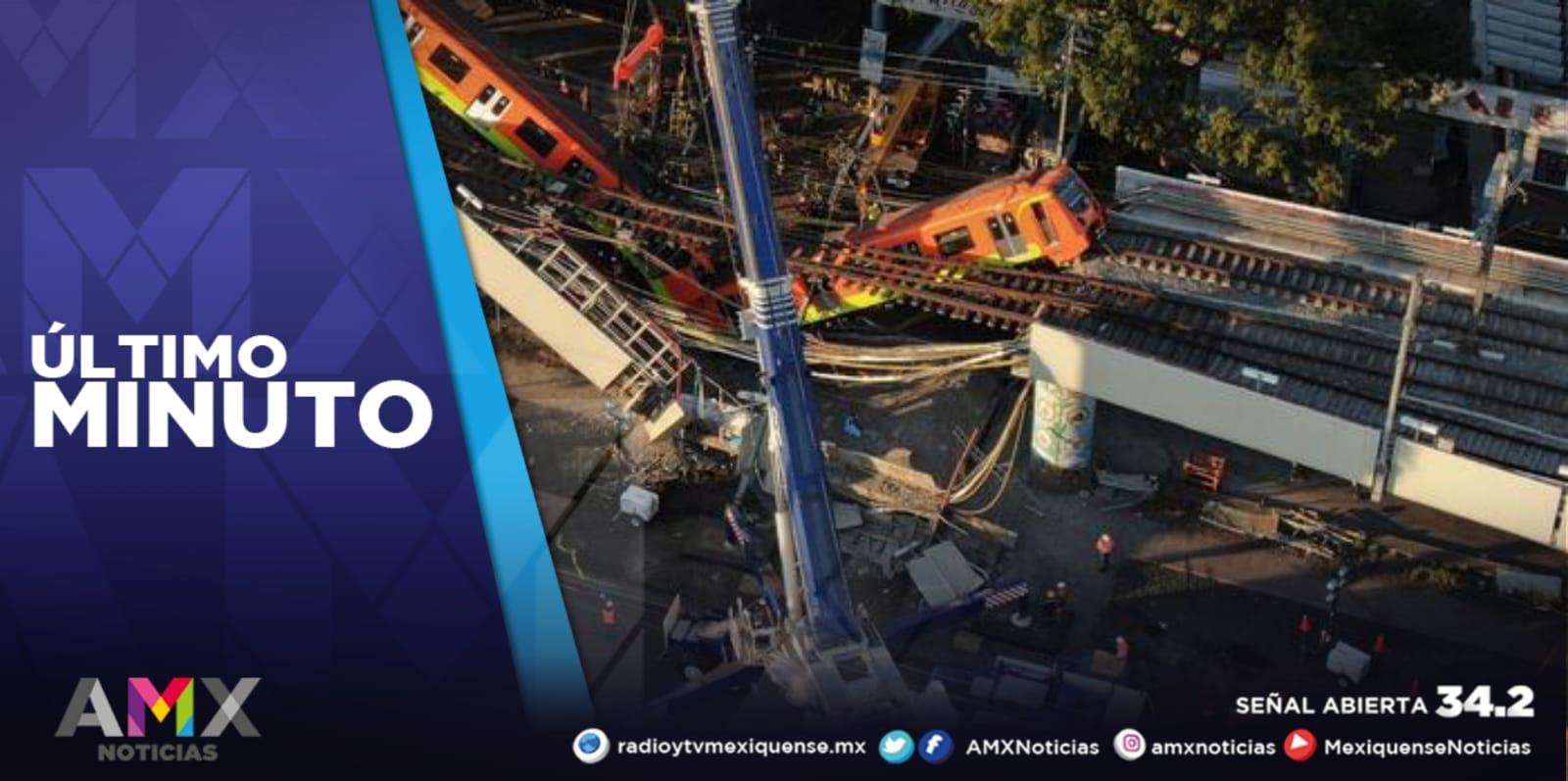 PRESENTAN PERITAJE FINAL SOBRE DERRUMBE DE LA LÍNEA 12 DEL METRO CDMX