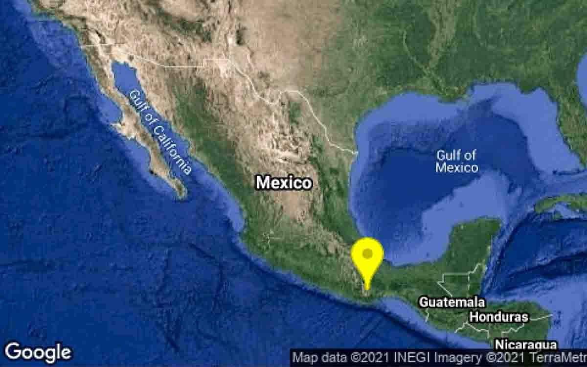 SE REGISTRA SISMO DE MAGNITUD 4.9 EN OAXACA