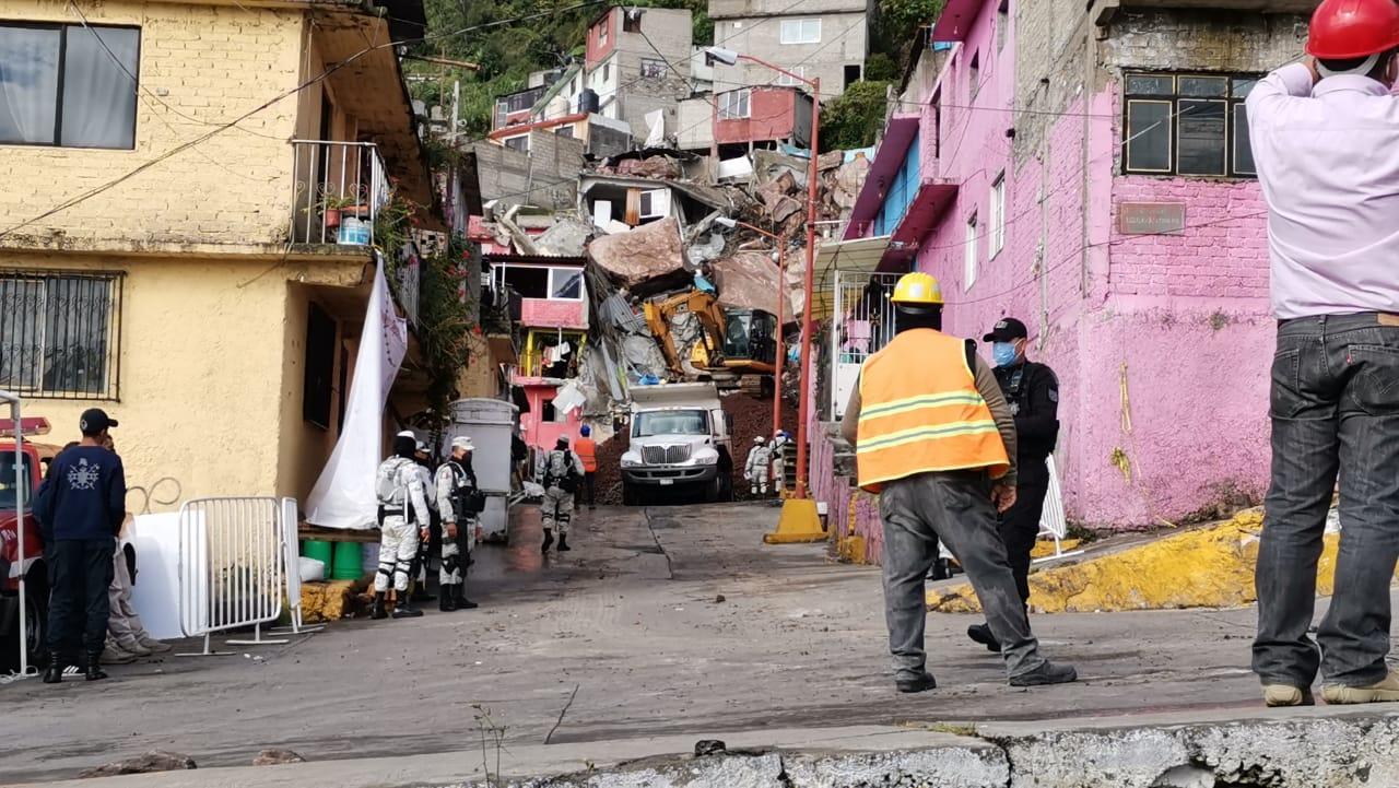 REFUERZAN TRABAJOS PARA ESTABILIZAR EL CERRO DEL CHIQUIHUITE