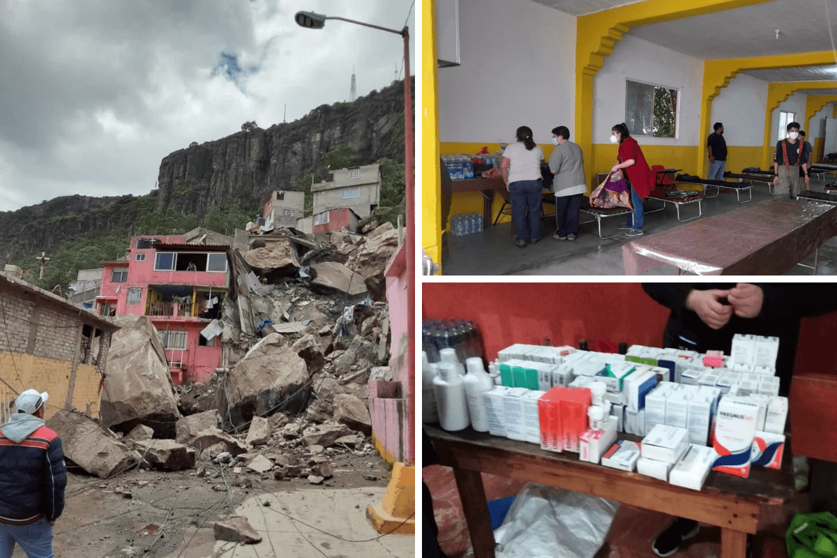 DISMINUYEN DONACIONES EN ALBERGUES ANTE EL DESGAJAMIENTO DEL CHIQUIHUITE