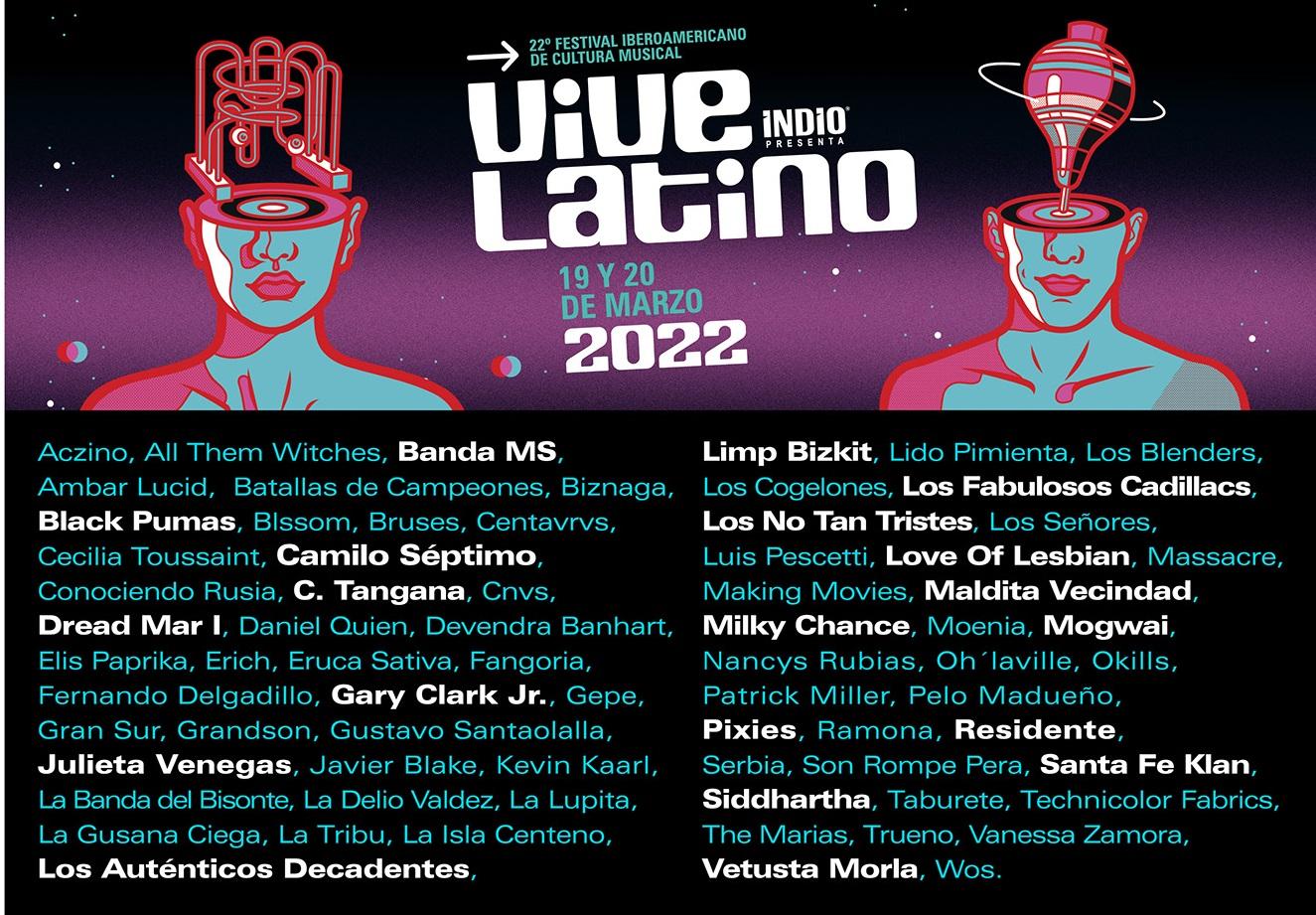 Así quedó el cartel del Vive latino 2022 ¿Ya lo viste?