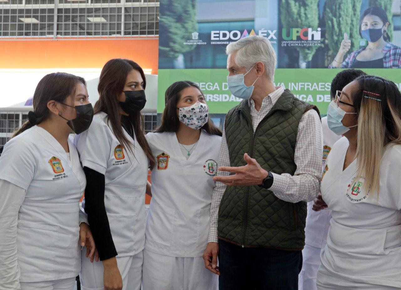 ENTREGA ALFREDO DEL MAZO NUEVO EDIFICIO A LA UNIVERSIDAD POLITÉCNICA DE CHIMALHUACÁN