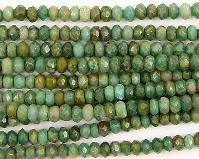 Verdite Faceted Rondelle 4mm