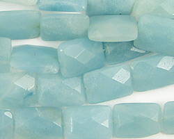 Amazonite Faceted Pillow 14x10mm