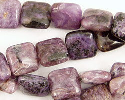Charoite Puff Square 12mm