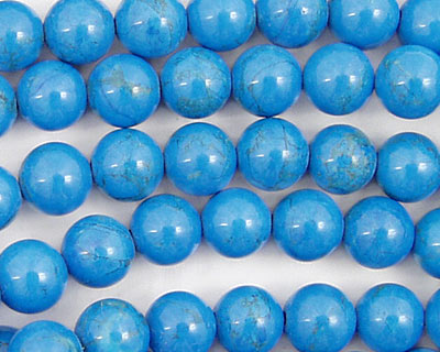 Howlite Turquoise Round 8mm
