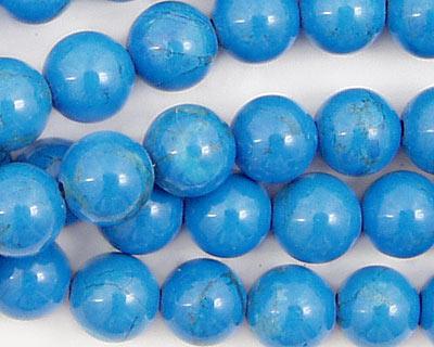 Howlite Turquoise Round 10mm
