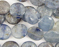 Kyanite Puff Coin 14mm