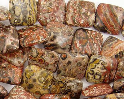 Leopardskin Jasper Puff Square 12mm