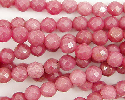 Rhodonite Faceted Round 6mm