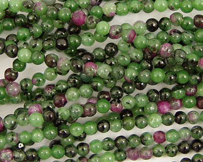Ruby Zoisite Round 3mm