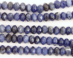 Sodalite Faceted Rondelle 6mm