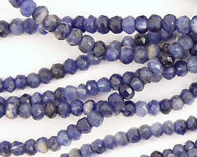Sodalite Faceted Rondelle 4mm