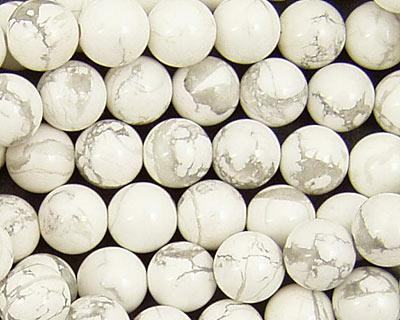 White Howlite Round 8mm