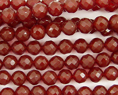 Carnelian Faceted Round 6mm